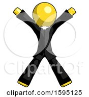 Yellow Clergy Man Jumping Or Flailing