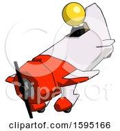 Yellow Clergy Man In Geebee Stunt Plane Descending View
