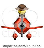 Yellow Detective Man In Geebee Stunt Plane Front View