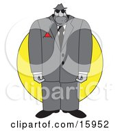 Huge Male Thug Or Bodyguard In A Suit Clipart Illustration by Andy Nortnik