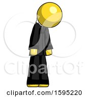 Yellow Clergy Man Depressed With Head Down Turned Right
