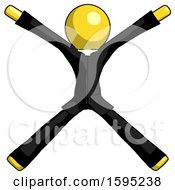 Yellow Clergy Man With Arms And Legs Stretched Out