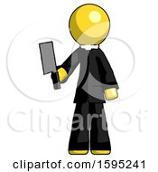 Yellow Clergy Man Holding Meat Cleaver