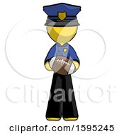 Yellow Police Man Giving Football To You