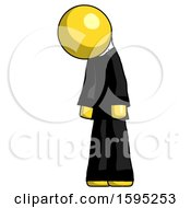 Yellow Clergy Man Depressed With Head Down Turned Left