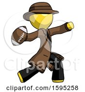Yellow Detective Man Throwing Football