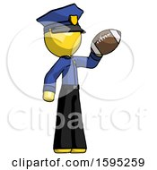 Yellow Police Man Holding Football Up