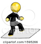 Yellow Clergy Man On Postage Envelope Surfing