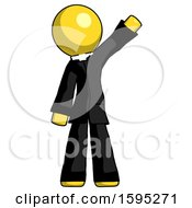 Yellow Clergy Man Waving Emphatically With Left Arm