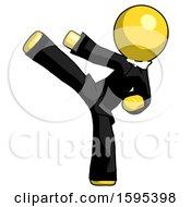 Yellow Clergy Man Ninja Kick Left
