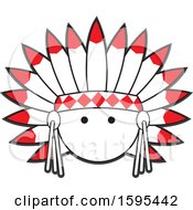 Clipart Of A Cartoon Native American Chief School Sports Mascot Royalty Free Vector Illustration