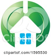 Clipart Of A House Bank Icon Royalty Free Vector Illustration