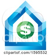 Clipart Of A Usd Dollar Symbol House Icon Royalty Free Vector Illustration
