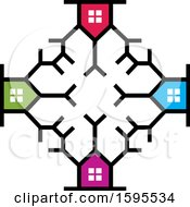 Clipart Of A Colorful House Design Royalty Free Vector Illustration by Lal Perera