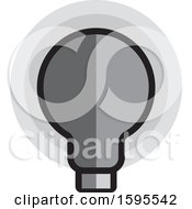 Poster, Art Print Of Grayscale Light Bulb