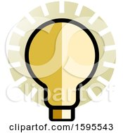 Poster, Art Print Of Shining Light Bulb