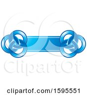 Blue Banner With Circles