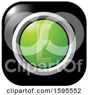Clipart Of A Black And Green Letter E Icon Royalty Free Vector Illustration