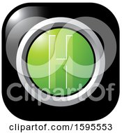 Clipart Of A Black And Green Letter H Icon Royalty Free Vector Illustration