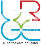 Green Blue And Red Abstract Letter Design