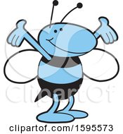 Clipart Of A Blue Jacket School Mascot Royalty Free Vector Illustration