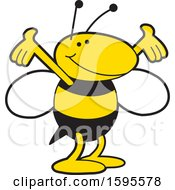 Clipart Of A Yellow Jacket School Mascot Royalty Free Vector Illustration