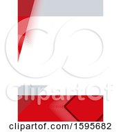 Red Gray And White Background