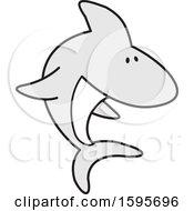 Clipart Of A Shark School Mascot Royalty Free Vector Illustration