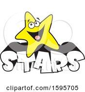 Star School Mascot Over Text