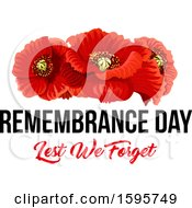 Clipart Of A Red Poppy Flower Remembrance Day Design Royalty Free Vector Illustration by Vector Tradition SM
