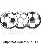 Trio Of Soccer Balls