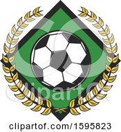 Clipart Of A Soccer Design Royalty Free Vector Illustration by Vector Tradition SM