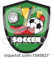 Clipart Of A Soccer Design Royalty Free Vector Illustration
