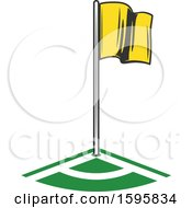 Clipart Of A Soccer Flag Royalty Free Vector Illustration by Vector Tradition SM