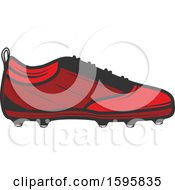 Clipart Of A Soccer Cleat Design Royalty Free Vector Illustration
