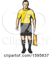 Clipart Of A Soccer Referee Royalty Free Vector Illustration