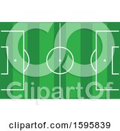 Clipart Of A Soccer Pitch Royalty Free Vector Illustration