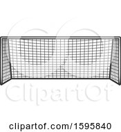 Clipart Of A Soccer Net Royalty Free Vector Illustration