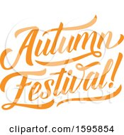Clipart Of An Autumn Festival Text Design Royalty Free Vector Illustration