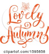 Clipart Of A Lovely Autumn Text Design Royalty Free Vector Illustration