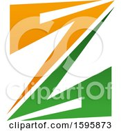 Clipart Of A Letter Z Logo Design Royalty Free Vector Illustration