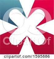 Clipart Of A Letter X Logo Design Royalty Free Vector Illustration
