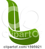 Clipart Of A Letter L Logo Design Royalty Free Vector Illustration