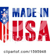 Clipart Of A Made In Usa Design Royalty Free Vector Illustration by Vector Tradition SM