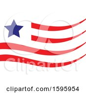 Clipart Of A Usa Flag Design Royalty Free Vector Illustration by Vector Tradition SM