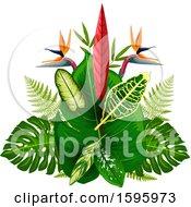 Poster, Art Print Of Tropical Flower Design