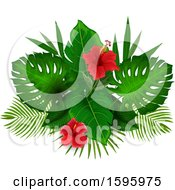 Poster, Art Print Of Tropical Hibiscus Flower Design