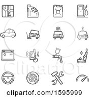 Clipart Of Automotive Icons Royalty Free Vector Illustration