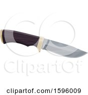 Clipart Of A Hunting Knife Royalty Free Vector Illustration