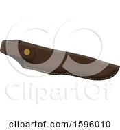 Clipart Of A Hunting Knife Holder Royalty Free Vector Illustration